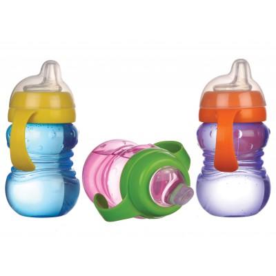Cana anticurgere Minut Baby 6+ cu manere si cioc silicon 275 ml