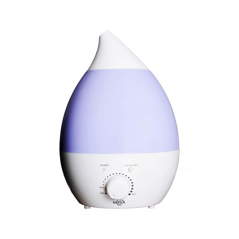 Umidificator ultrasunete, cu ionizare, lampa de veghe si aromoterapie Minut Baby, 2.8l