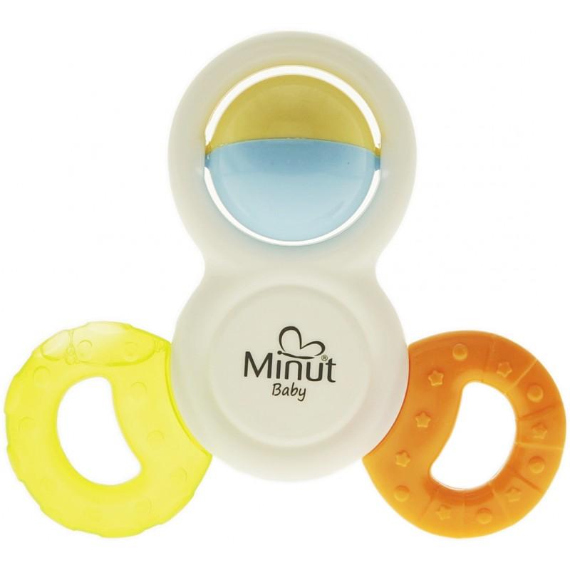 Inel dentitie cu jucarie 3 way Minut Baby