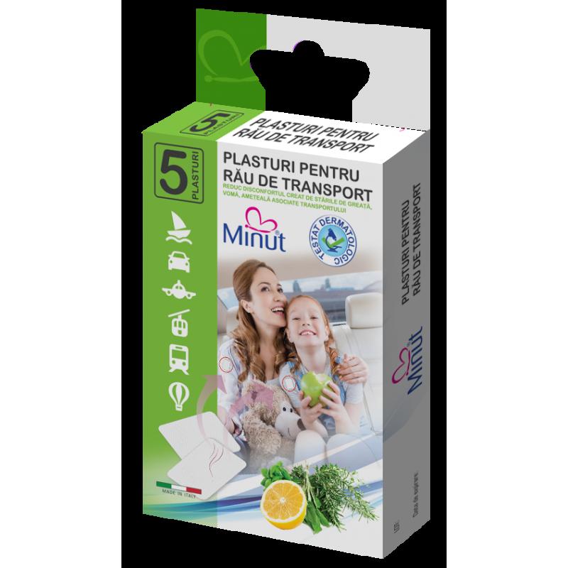 Plasturi Minut pentru rau de transport 5 buc/cutie