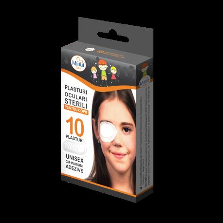 Plasturi oculari sterili pentru copii, 10 buc