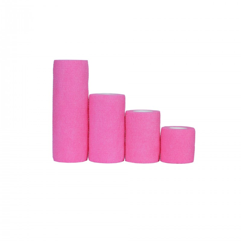 Bandaj elastic autoadeziv Minut, roz