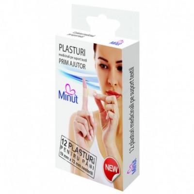 Plasturi Minut pentru rani prim ajutor, 12 buc
