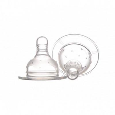 Set 2 tetine Minut Baby silicon  gat larg, 0+,3+,6+,6+ lichide groase